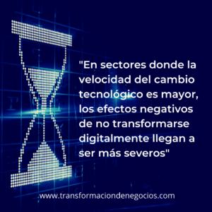 Velocidad del cambio tecnológico y transformación digital